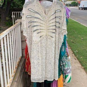 Aidan mattox beaded party dress